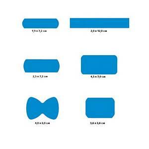 Pansements détectables CMT HEKA® PLAST, bleus, la boîte de 120 pièces