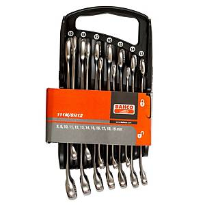 Bahco 111m/sh12 8-19mm kiintosilmukka avainsarja 12 avainta