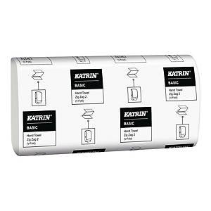 Ręczniki papierowe KATRIN 16174 BASIC, składka V, 20 x 150 listków