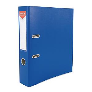 Segregator polipropylenowy OFFICE PRODUCTS 21011221-01, A4, 75 mm, niebieski