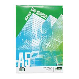 D.RECT 009599 NOTEPAD STAPLED 50S A5 5X5