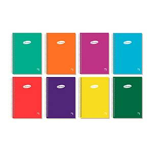Cuaderno School Folio Espiral 80h 60gr Liso Colores Surtidos