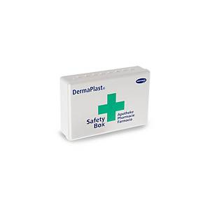 Boîte pharmacie DermaPlast Safety, plast. ABS, 21x14x 5,5cm, contient 27 élém.