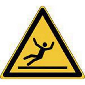 Autocollant d avertissement surface glissante Brady W011, 100 x 87, les 3 pièces