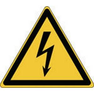 Autocollant d avertissement tension électrique Brady W012, 50 x 43 mm, 7 pièces