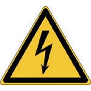 Autocollant d avertissement tension électrique Brady W012, 100 x 87 mm, 3 pièces