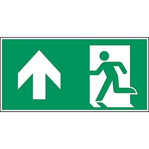 Brady pictogram self adhesive A0/E001 Emergency exit left straight 400x200mm