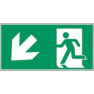 Brady pictogram PP A225/E001 Emergency exit lower-left corner 297x145mm