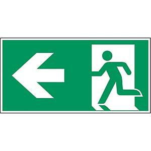 Brady pictogram self adhesive A270/E001 Emergency exit left arrow 210x105mm