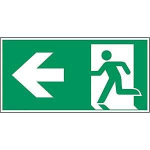 Brady pictogram self adhesive A270/E001 Emergency exit left arrow 297x148mm