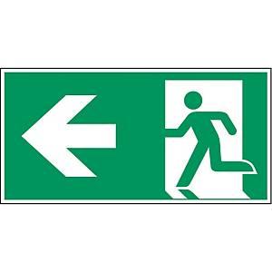 Brady pictogram PP A270/E001 Emergency exit left arrow 400x200mm