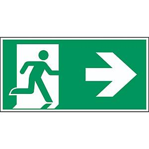 Brady pictogram PP A90/E002 Emergency exit right arrow 297x145mm