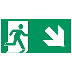 Brady picto self adhesive A135/E002 Emergency exit lower-right corner 297x148mm