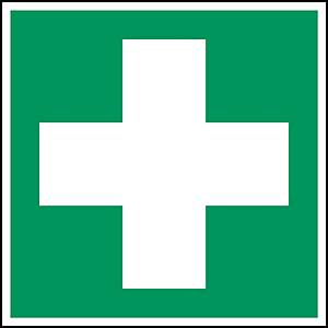 Brady self adhesive pictogram E003 First aid 200x200mm