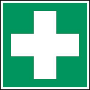 Brady PP pictogram E003 First aid 200x200mm