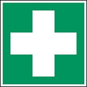 Brady pictogram bidirectional E003 First aid 151x151 mm