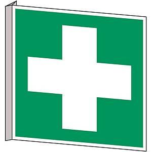 Brady pictogram bidirectional E003 First aid 253x253 mm