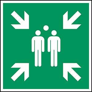 Brady pictogram bidirectional E007 Evacuation assemply point 318x318 mm