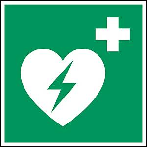 Brady E010 pictogram AED, bidirectioneel, 250 x 250 mm, per stuk