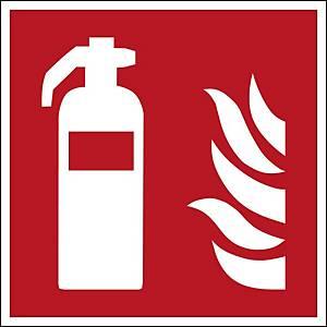 Brady self adhesive pictogram F001 Fire extinguisher 200x200mm