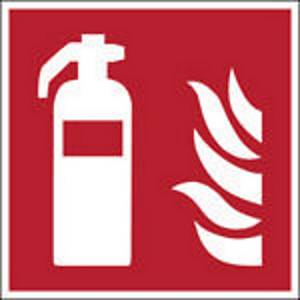 Brady self adhesive pictogram F001 Fire extinguisher 400x400mm