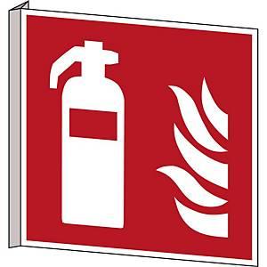 Brady pictogram bidirectional F001 Fire extinguisher 253x253 mm