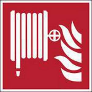Brady self adhesive pictogram F002 Fire hose reel 400x400mm