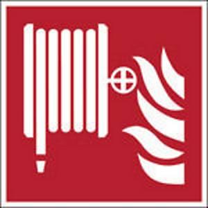 Pictogramme lance incendie Brady F002, 148 x 148 mm, polypropylène, la pièce