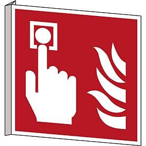 Brady pictogram bidirectional F005 Fire alarm call point 253x253 mm