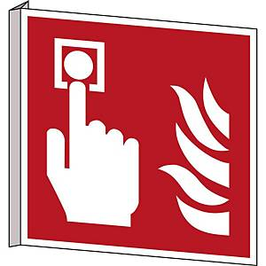 Brady pictogramme bidirectionnel F005 Point d alarme incendie 253x253 mm
