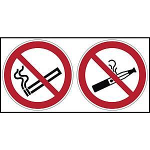 Brady P002/PIC900 verbodsteken roken/e-sigaret verboden, zelfklevend, 200x100 mm