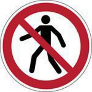 Brady P004 verbodsteken verboden voor voetgangers, PP, 200 mm, per stuk