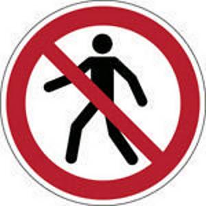 Brady P004 verbodsteken verboden voor voetgangers, PP, 315 mm, per stuk
