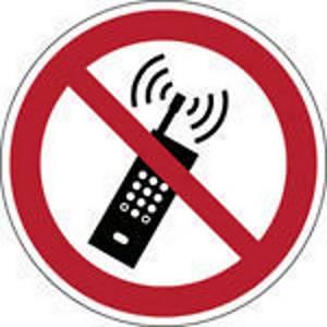 Brady pictogramme autocollant P013 Interdiction des téléphones mobiles 200mm