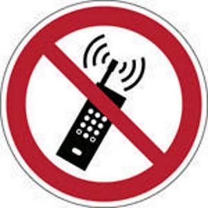 Brady P013 verbodsteken draagbare telefoon verboden, PP, 200 mm, per stuk