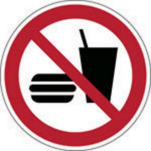 Brady self adhesive pictogram P022 No eating of drinking 100mm