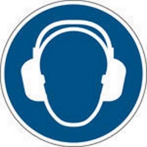 Panneau d obligation protection auditive Brady M003, autocollant, 100 mm, 1x