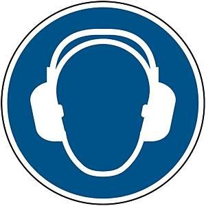Panneau d obligation protection auditive Brady M003, autocollant, 200 mm, 1x