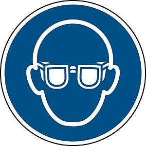 Brady self adhesive pictogram M004 Wear eye protection 50mm - pk2