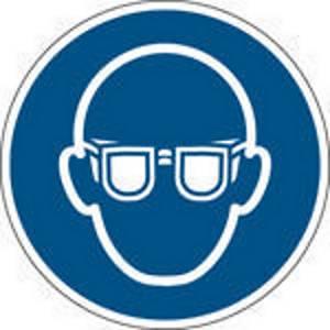 Brady self adhesive pictogram M004 Wear eye protection 315mm
