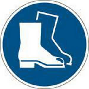 Panneau d obligation chaussures de sécurité Brady M008, autocollant, 50 mm, 2x