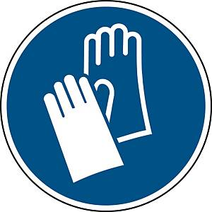 Brady self adhesive pictogram M009 Wear protective gloves 315mm