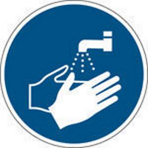 Brady self adhesive pictogram M011 Wash your hands 100mm