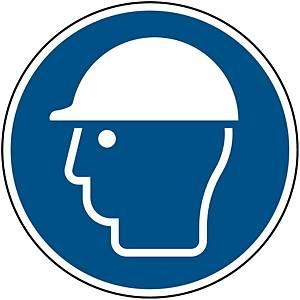 Panneau d obligation casque sécurité Brady M014, autocollant, 100 mm, la pièce