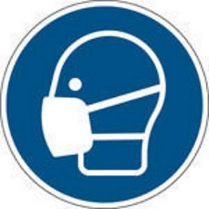 Panneau d obligation protection respiratoire Brady M016, autocollant, 100 mm, 1x