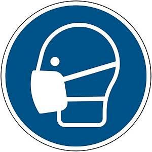 Brady self adhesive pictogram M016 Wear a mask 200mm