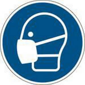 Panneau d obligation protection respiratoire Brady M016, PP, 200 mm, la pièce