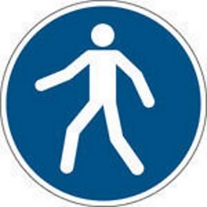 Brady zelfklevend pictogram M024 Verplichte doorgang voetgangers verplicht 100mm