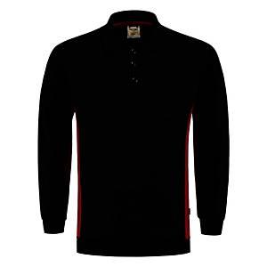 Tricorp TS2000 Bi-color trui, zwart/rood, maat L, per stuk