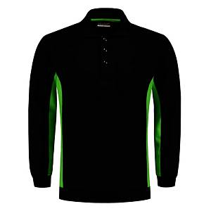 Tricorp TS2000 Bi-color trui, zwart/groen, maat M, per stuk